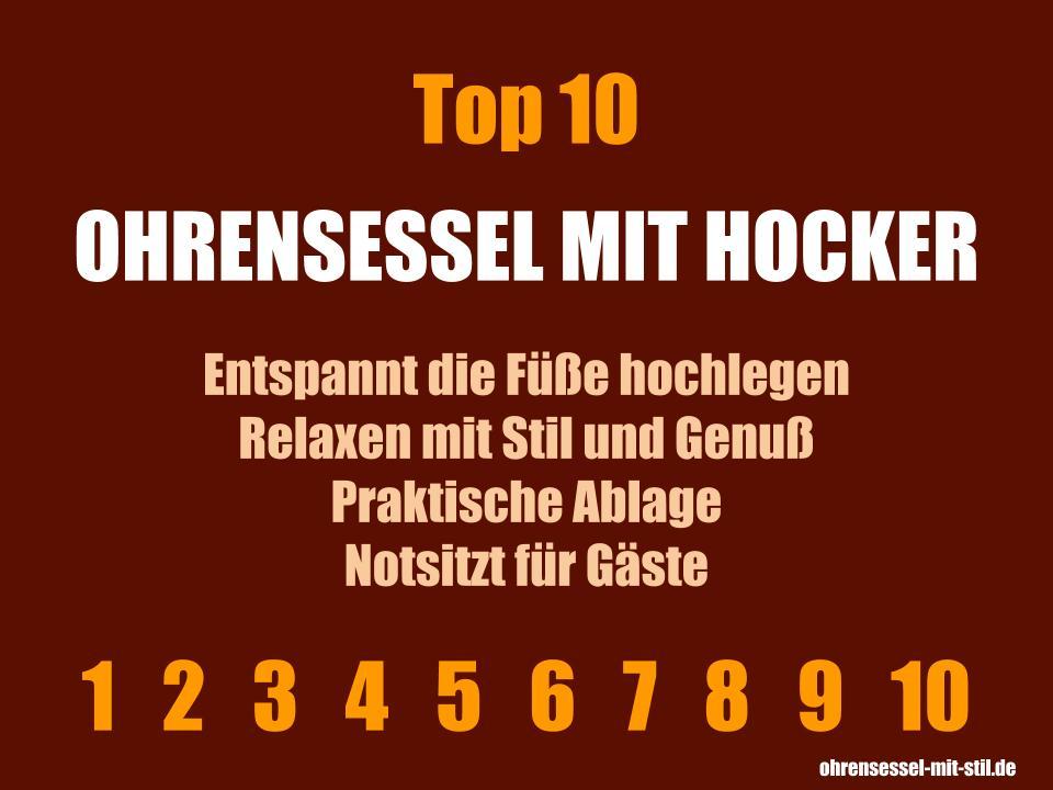 Ohrensessel mit Hocker kaufen - Unsere Top 10 Liste