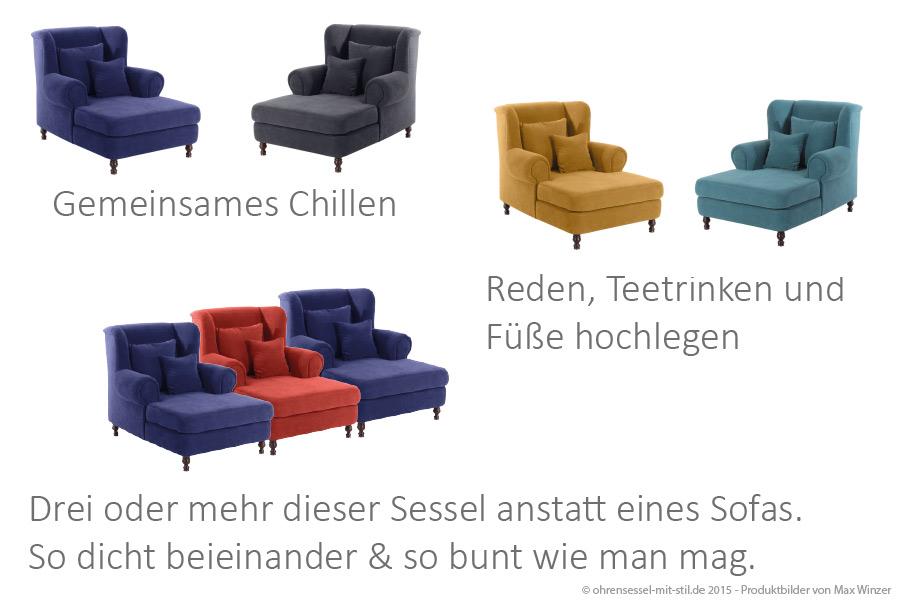 Ohrensessel Max Winzer XXL Loungesessel auf ohrensessel-mit-stil.de