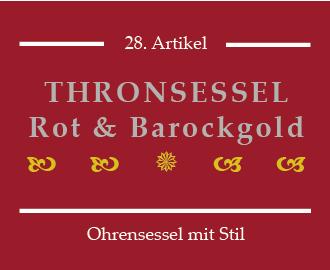 Roter Thronsessel Barockstil
