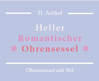 Heller romantischer Ohrenbackensessel mit Hocker