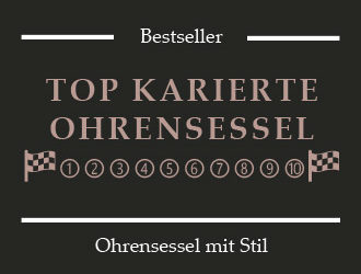 Ohrensessel kariert & Sessel Cover im Tartanmuster