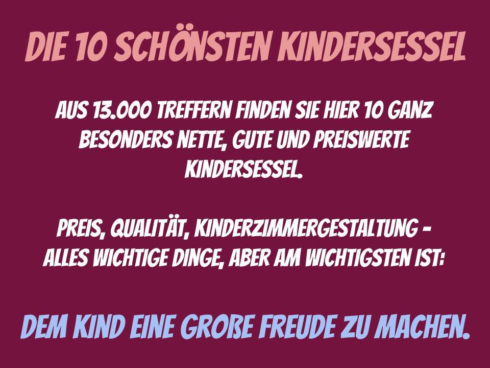 10 schöne Kindersessel - Kinderzimmergestaltung